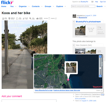 Flickr foto geomapping
